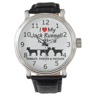 I Love My Three Jack Russell Terrier Dogs Watch