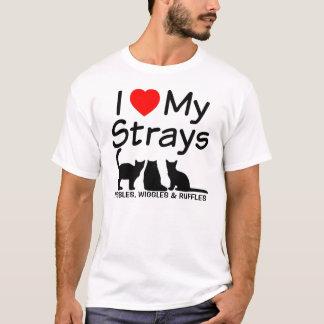 I Love My THREE Stray Cats T-Shirt