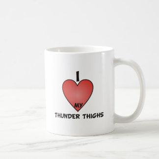 I Love My Thunder Thighs Basic White Mug