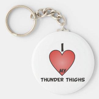 I Love My Thunder Thighs Basic Round Button Key Ring