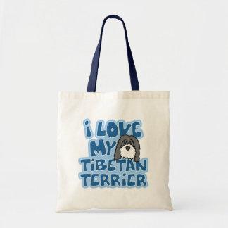 I Love My Tibetan Terrier Bag