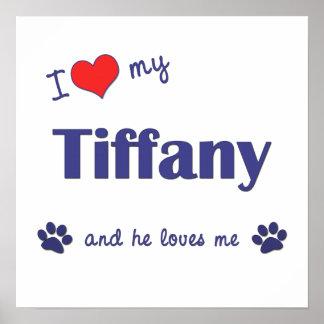 I Love My Tiffany Male Cat Posters