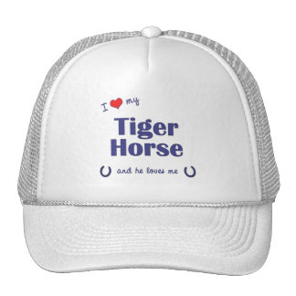 I Love My Tiger Horse (Male Horse) Trucker Hats