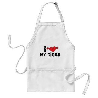 I Love My Tiger Standard Apron