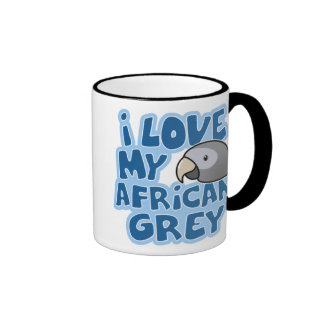 I Love My Timneh African Grey Mug