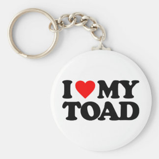 I LOVE MY TOAD BASIC ROUND BUTTON KEY RING