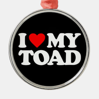 I LOVE MY TOAD CHRISTMAS TREE ORNAMENTS