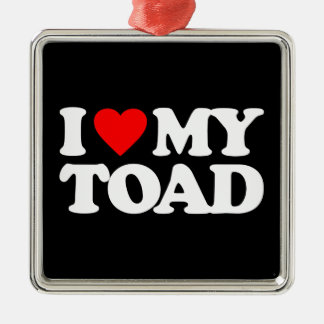 I LOVE MY TOAD CHRISTMAS ORNAMENT