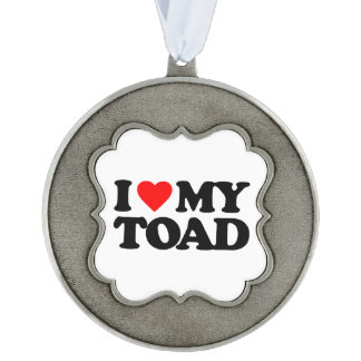 I LOVE MY TOAD SCALLOPED ORNAMENT