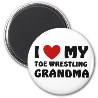 I love my Toe Wrestling Grandma Refrigerator Magnets