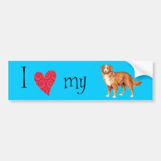 I Love my Toller Bumper Sticker