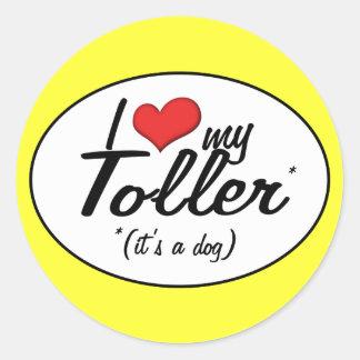 I Love My Toller It s a Dog Sticker