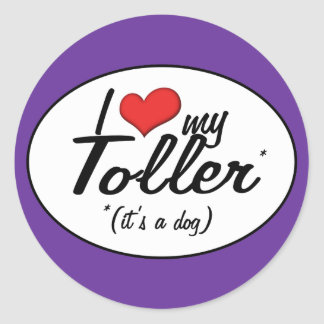 I Love My Toller (It's a Dog) Round Stickers
