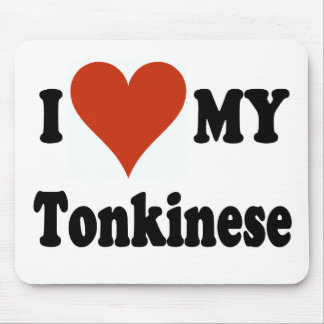 I Love My Tonkinese Cat Mouse Pad