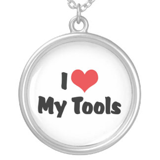 I Love My Tools Personalized Necklace