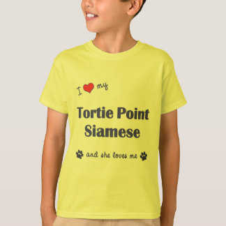 I Love My Tortie Point Siamese (Female Cat) T-Shirt