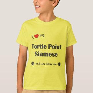 I Love My Tortie Point Siamese (Female Cat) Tshirts