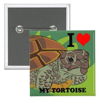 I Love My Tortoise Square Button