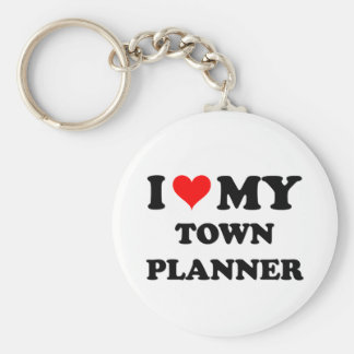 I Love My Town Planner Basic Round Button Key Ring