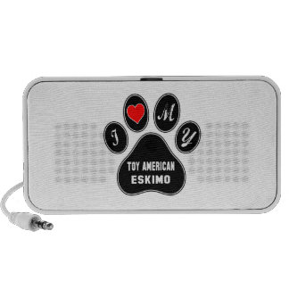 I love my Toy American Eskimo Dog. Travelling Speakers