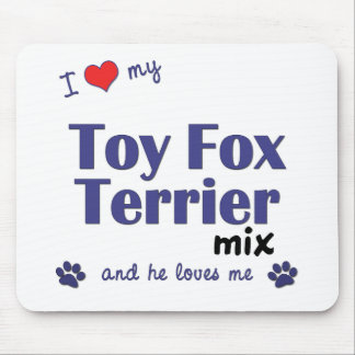 I Love My Toy Fox Terrier Mix (Male Dog) Mouse Pad