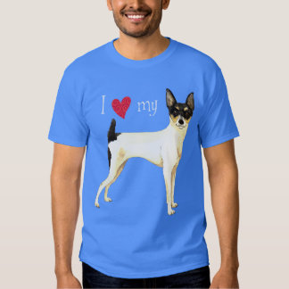 I Love my Toy Fox Terrier Shirt