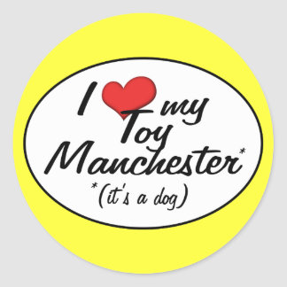 I Love My Toy Manchester It s a Dog Stickers