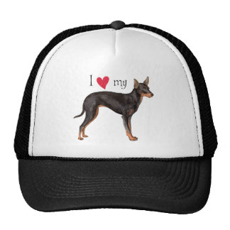 I Love my Toy Manchester Terrier Cap