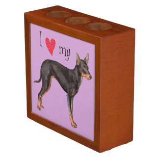 I Love my Toy Manchester Terrier Pencil Holder