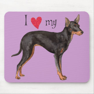 I Love my Toy Manchester Terrier Mouse Pad