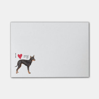I Love my Toy Manchester Terrier Post-It Notes