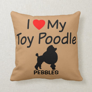 I Love My Toy Poodle Dog Pillow Throw Cushions