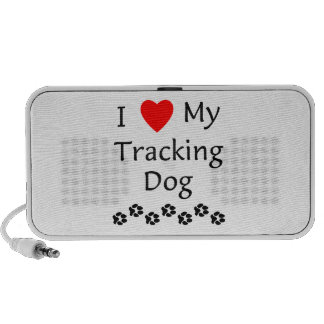 I Love My Tracking Dog (paw prints) Laptop Speakers