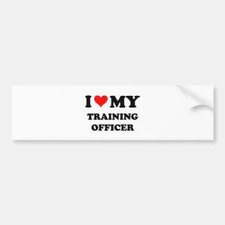 I Love My Training Officer Car Bumper Sticker