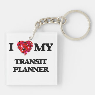 I love my Transit Planner Double-Sided Square Acrylic Key Ring