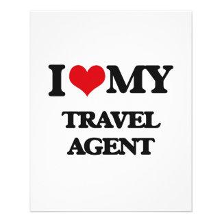 I love my Travel Agent 11.5 Cm X 14 Cm Flyer