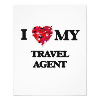 "I love my Travel Agent 4.5"" X 5.6"" Flyer"