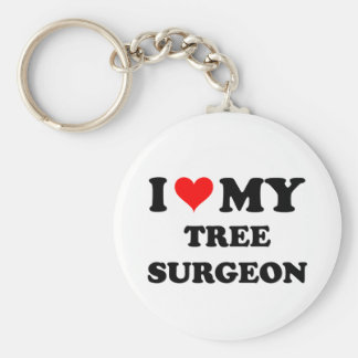 I Love My Tree Surgeon Basic Round Button Key Ring