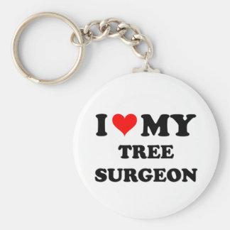 I Love My Tree Surgeon Keychains
