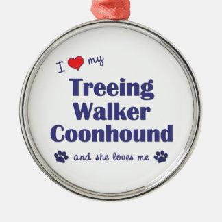 I Love My Treeing Walker Coonhound (Female Dog) Christmas Ornament