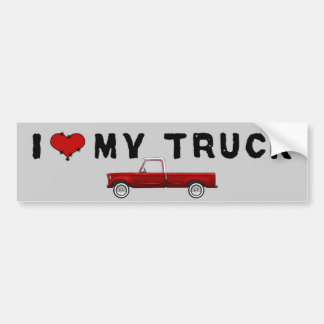I Love My Truck Bumper Sticker