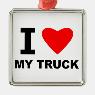 I Love My Truck Christmas Ornament