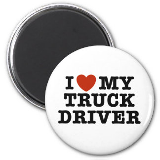I Love My Truck Driver 6 Cm Round Magnet