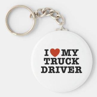 I Love My Truck Driver Key Ring