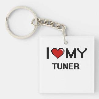 I love my Tuner Single-Sided Square Acrylic Keychain