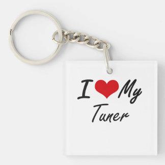 I love my Tuner Single-Sided Square Acrylic Key Ring