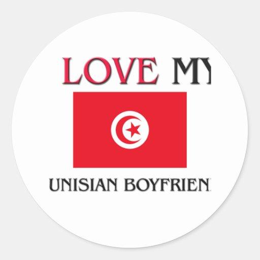 I Love My Tunisian Boyfriend Round Sticker