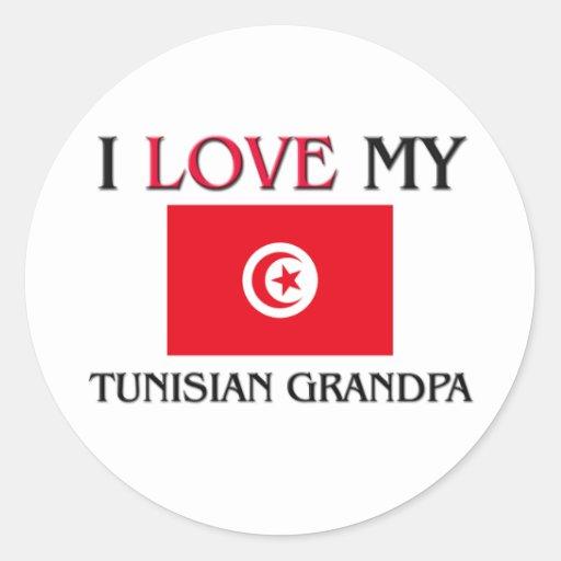 I Love My Tunisian Grandpa Sticker