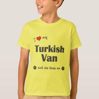 I Love My Turkish Van (Female Cat) Tshirts