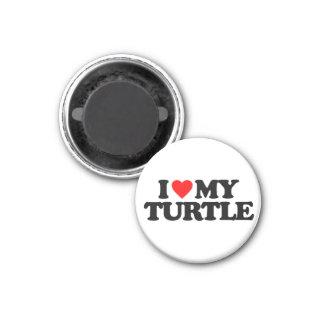 I LOVE MY TURTLE 3 CM ROUND MAGNET